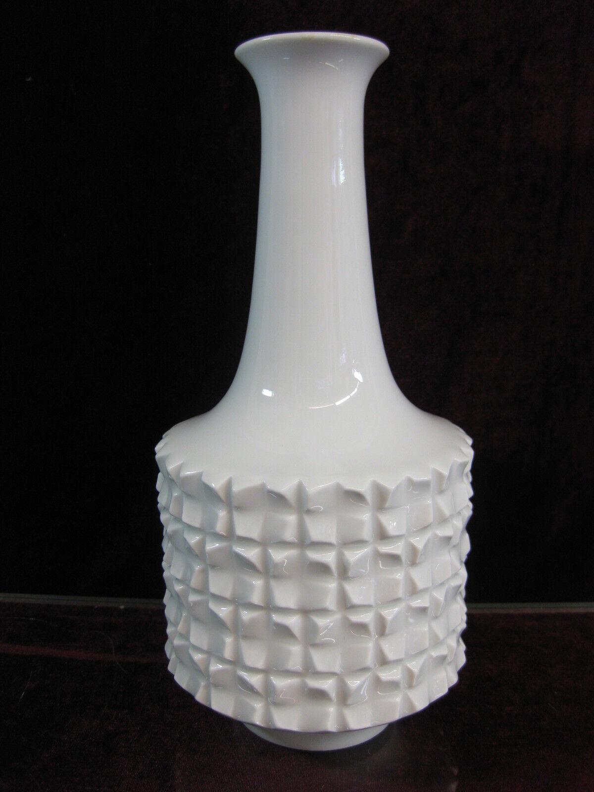 Meissen weiß Vase unbeschädigt  Top Erhaltung Erhaltung Erhaltung 1 Wahl Vintage 1970 Design a19666