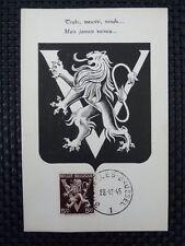 BELGIEN MK 1944 WAPPENLÖWE VICTORY MAXIMUMKARTE CARTE MAXIMUM CARD MC CM a6667