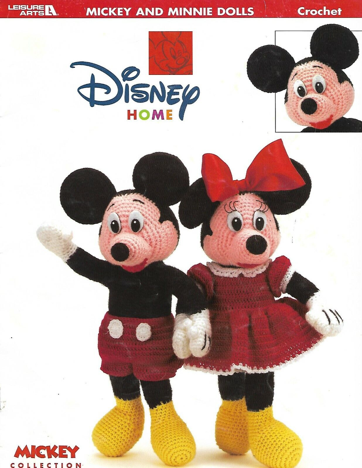 pattern booklet RARE Disney mickey minnie characters dolls to crochet