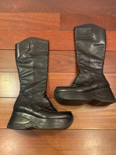 Stephane Kelian Black Platform Boots SiZe 7.5