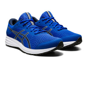 Asics-Hommes-Patriote-12-Chaussures-De-Course-Baskets-Sneakers-Bleu-Sport-Respirant