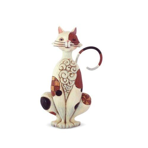 Jim Shore Miniature Spotted Cat Mini Figurine 6003982 New