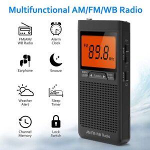AM FM Radio Battery Operated Radio Portable Pocket Auto-Search Emergency Sefty