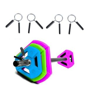 """4Pcs//Set 1/"""" Weight Spring Collars Clips Dumbbell Barbell Clamp Bar Standard 25mm"""