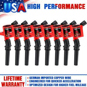 Details About 8 Ignition Coil Pack For Ford F150 Expedition 2000 2001 2002 2003 2004 4 6l 5 4l
