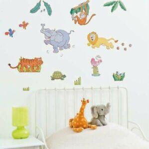 Jungle-Safari-Tree-Animal-Wall-Stickers-Kids-Nursery-Decals-Girls-Bedroom-Decor