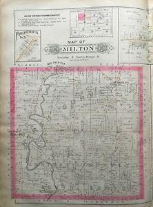 MUELLER ATLAS MAP Reproduction 1899 Berlin /& Berlin Centre Mahoning County Ohio A.H