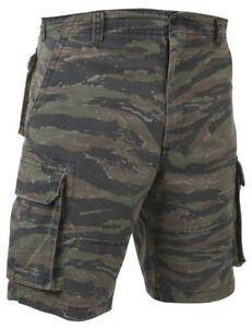 ab8f0dc51e Image is loading shorts-camo-tiger-stripe-vintage-style-paratrooper-cargo-