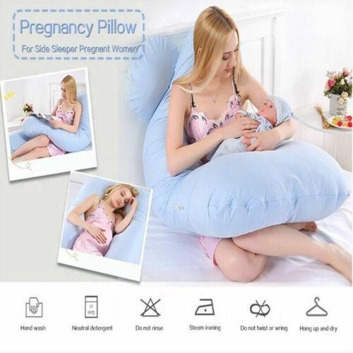 Schwangerschafts Kissen U-Still Kissen Lagerungskissen Frauen Schwellen Baby DE