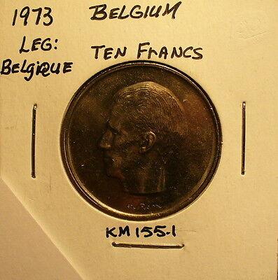 Coin Sets of All Nations Belgium 1977-1983 UNC 20 Francs 1982 10 Francs 1977