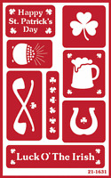 Over N Over Reusable Glass Etching Stencil Irish Assortment