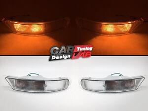 2-Clear-Front-Bumper-Flasher-Light-Lamps-For-Subaru-Impreza-RX-GC-GF-93-98-GC8