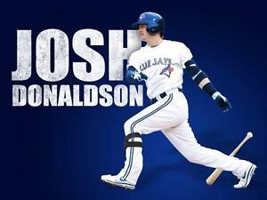 new styles 31d04 59f9b Details about JOSH DONALDSON WHITE REPLICA JERSEY Toronto Blue Jays  Mother's Day Oakland A's