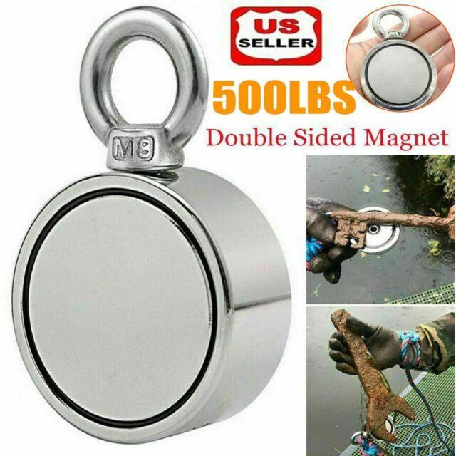 Pull Super Strong Round Neodymium River Fishing Salvage Magnet Eyebolt 2020 q2w