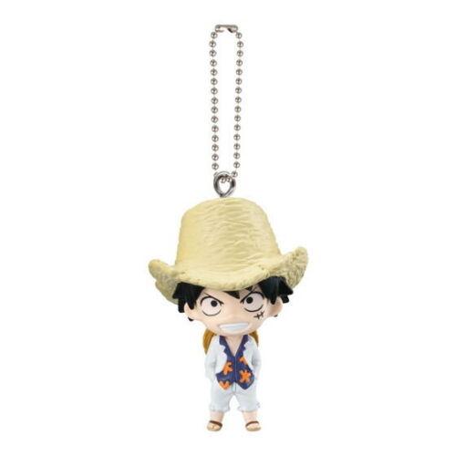 One Piece Film Gold Swing Mascot PVC Keychain Figure SD Monkey D Luffy @6673