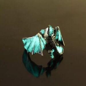 Luminous-Dragon-Ring-Game-of-Thrones-Vintage-Retro-Antique-Silver-Adjustable