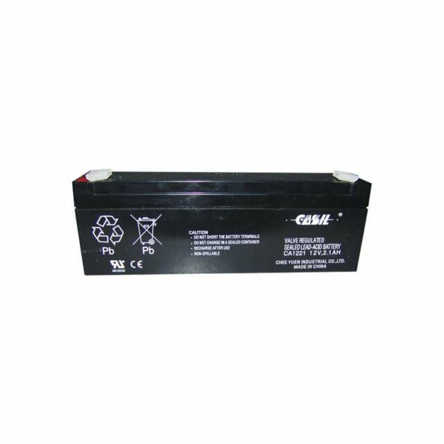 Honeywell Casil 12v 2.1ah Sealed Lead Acid Rechargeable Back Up Alarm Battery