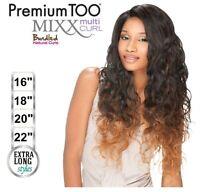 Premium Too Mixx Multi Curl Peruvian Wave Weave (16182022) + Lace Parting