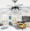Modern-Crystal-Ceiling-Fan-Light-LED-Chandelier-Remote-Control-Ceiling-Light miniature 2