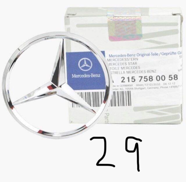 Genuine Mercedes-Benz C215 CL Rear Silver Boot Lid Star Badge Emblem A2157580058
