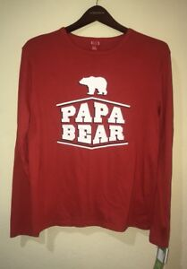 Sleepwear & Robes Target Papa Bear Christmas Family Pajama Shirt Top Long Sleeve Size Small New Elegant And Sturdy Package