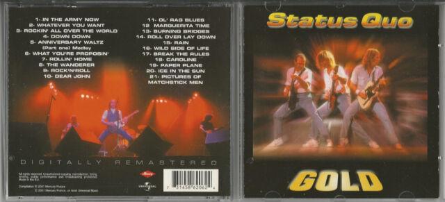 """STATUS QUO """"GOLD"""" rare CD 2001 Mercury.586206.2/France"""