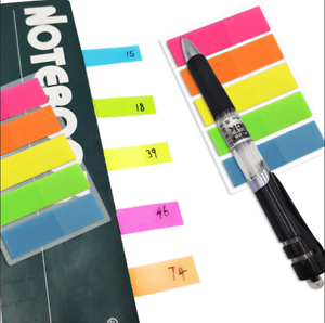 100pcs Fluorescence Sticky Notes Memo Flags Post Bookmark Marker Tab Stickers