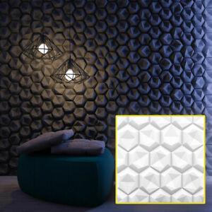 3d Paneele Wandpaneele Hexagon Weiss Styropor Wand Dekor Putzoptik 3d Decke Ebay