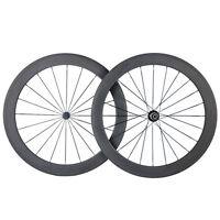 Only 1470g 700C 50mm Depth Clincher Carbon Wheels Road Bike Ultra Light Wheelset