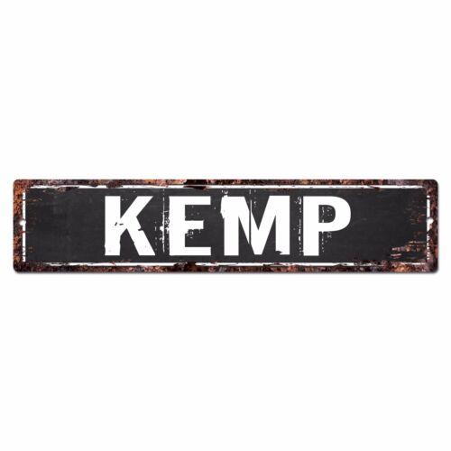 SLND0698 KEMP Street Chic Sign Home man cave Decor Gift Ideas