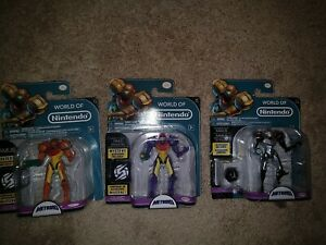 World of Nintendo Metroid Samus Figure Lot of 3 Phazon Gravity Suit Jakks NEW