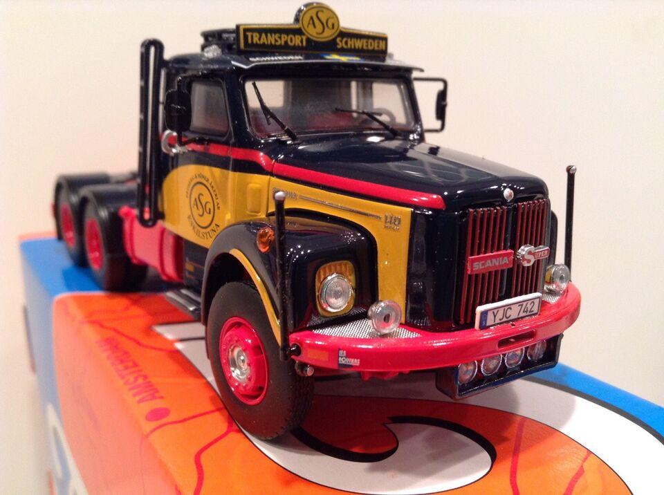 Modellastbil, Tekno Scania 110, skala 1:50