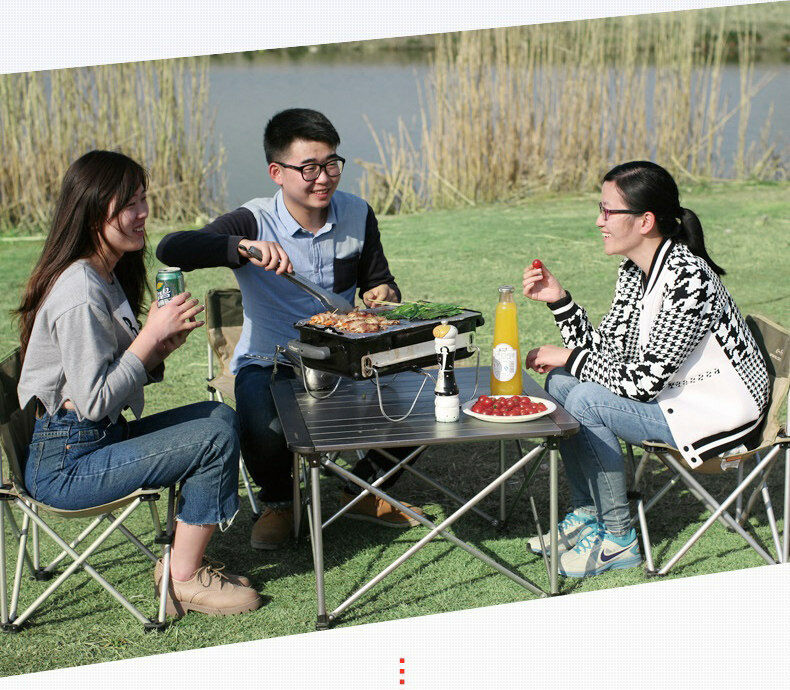 D33 Charcoal Stove Portable Professional Barbecue Camping Outdoor BBQ Barbecue Professional Net 5de4b3