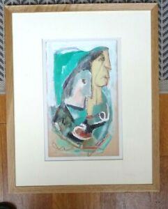 WALTER FIRPO PEINTRE CUBISTE AMERICAIN DISC DE GLEIZES HUILE  VISAGES 1930-1940