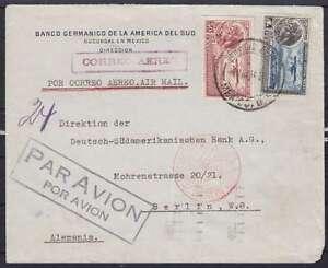 Mexiko Lupo Luftpost Brief 1934, gel. mit LPA Berlin über Paris