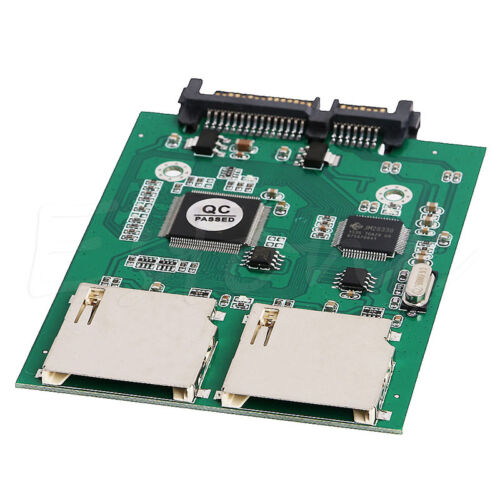 No SD Card Size Limit Dual 2 Port SD SDHC MMC RAID to SATA Adapter Converter
