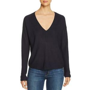 Eileen-Fisher-Sweater-V-Neck-Midnight-Blue-Tencel-Silk-Sz-M-NEW-NWT-301