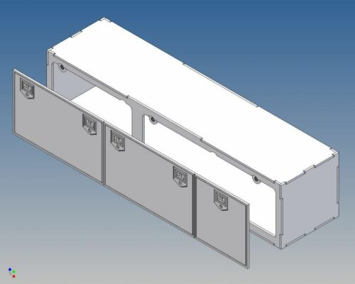 Dsb240-boite de rangement pour camion tamiya m1:14-240 Long x 52 haut x 56 profondément