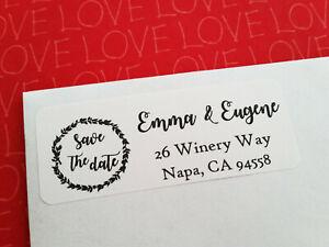 Wedding RSVP Guest Address Labels Save The Date Return Address Labels