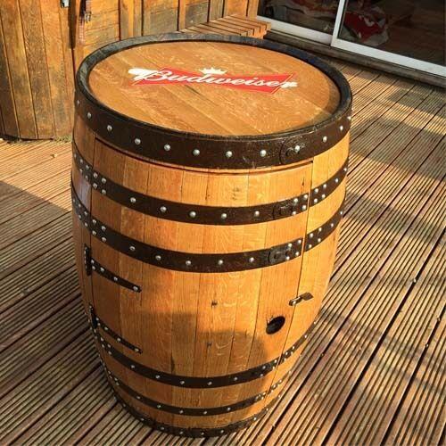 Solid aus Holz Oak Oak Oak Whiskey Fass Markiert Pub Terrasse Tisch Mit | Schön und charmant  bb8ce5