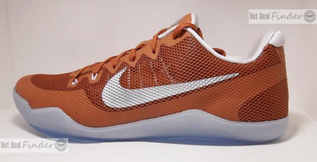 on sale ba3d0 8cd00 Nike Kobe 11 XI TB Promo Basketball Shoes Texas Longhorns Mens Size 16