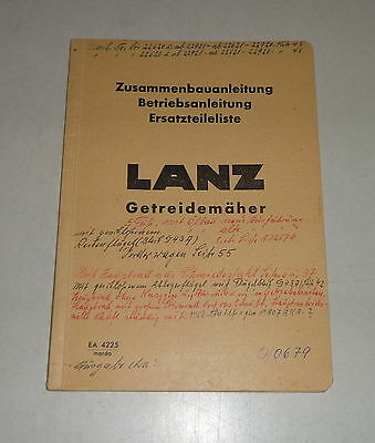 06/1979 Activating Blood Circulation And Strengthening Sinews And Bones Operating Instructions/parts Catalog Lanz Getreidemäher Motors Industrial