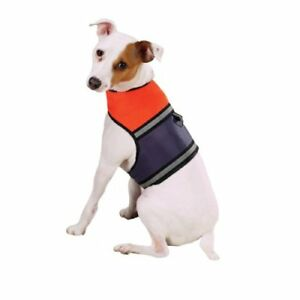 Dog-Puppy-Reflective-Safety-Vest-Mesh-Harness-Vest-Orange-NEW-XXS-S-Zack-amp-Zoey