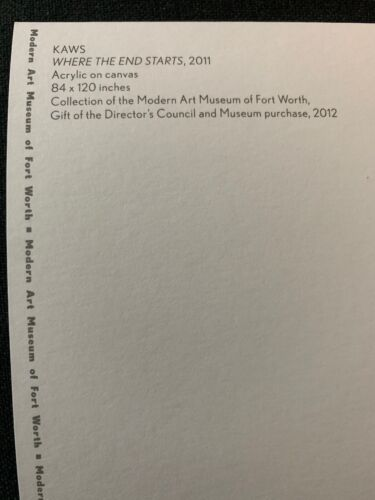 """KAWS Official """"WHERE THE END STARTS/"""" 6x9 Postcard Sold Out Show at MFTW Uniqlo"""