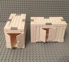 Lego X2 New MOC City Transport Trailer / Flat Bed Truck White Storage Container