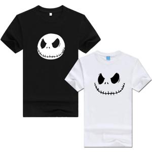 Anime The Nightmare Before Christmas t-shirt logo Men and women Short sleeves