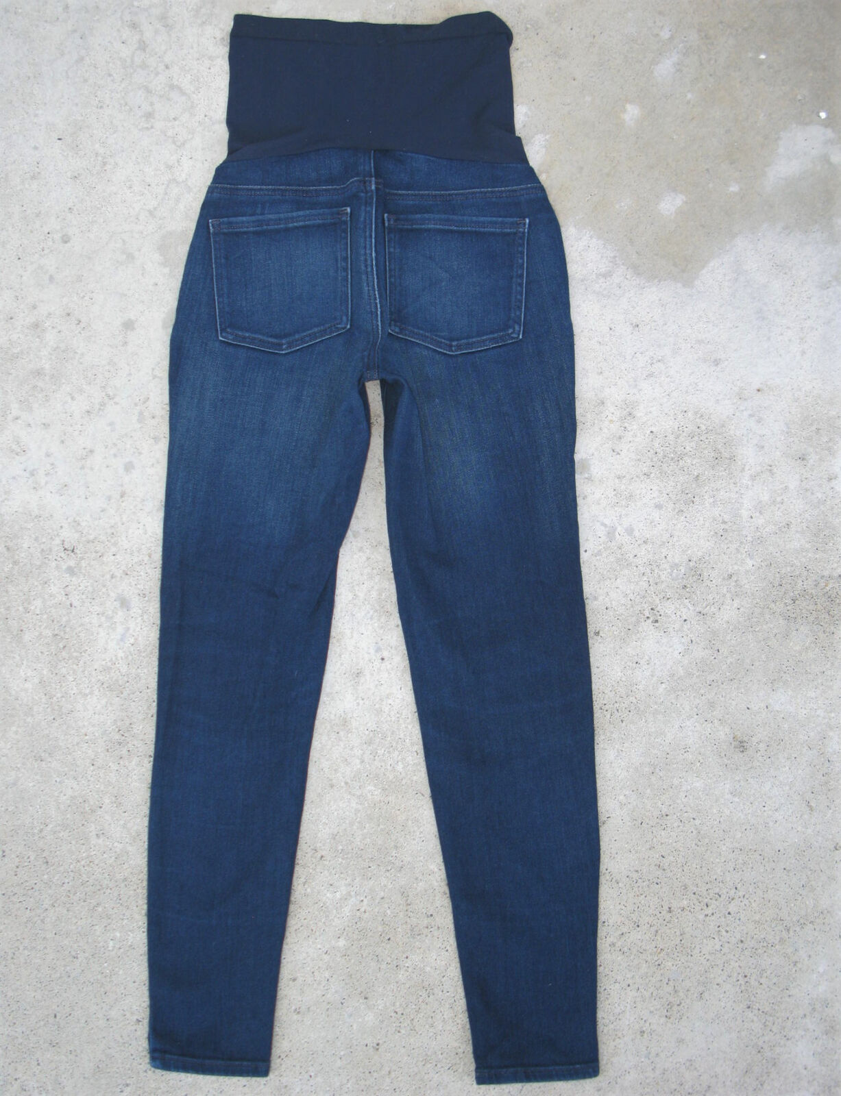 Pea in the Pod Skinny Ankle Maternity Jeans Sz 27 Wide Panel Stretchy Dark bluee