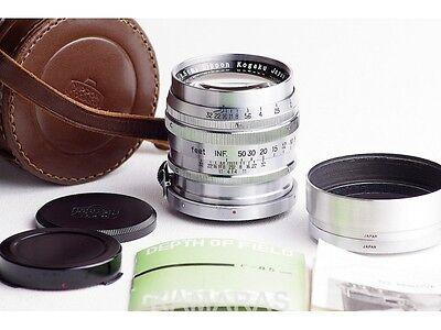Objetivo colección NIPPON KOGAKU NIKKOR-P.C 8.5cm 85mm F2 para Nikon S2 S3 S4 Sp