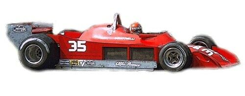 Kit alfa romeo 177 f1 GP  Belgium 1979 B. Giacomelli RIT. TAMEO slk123  bienvenue pour acheter