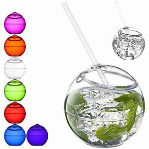 Bicchiere-a-Sfera-con-Cannuccia-Fiesta-580ml-Riutilizzabile-per-Frappe-Bibite
